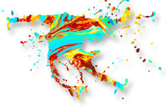 Fond abstrait d'éclaboussure de peinture acrylique Images stock