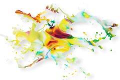 Fond abstrait d'éclaboussure de peinture acrylique Photo stock