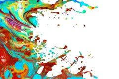 Fond abstrait d'éclaboussure de peinture acrylique Image libre de droits