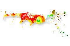 Fond abstrait d'éclaboussure de peinture acrylique Images libres de droits