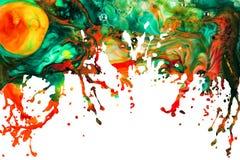 Fond abstrait d'éclaboussure de peinture acrylique Photos libres de droits