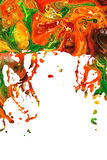 Fond abstrait d'éclaboussure de peinture acrylique Photo libre de droits