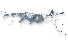 Fond abstrait d'éclaboussure de peinture acrylique Photographie stock libre de droits
