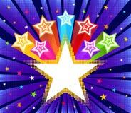 Fond abstrait d'éclat d'étoile Photographie stock libre de droits
