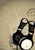 Fond abstrait d'écouteurs Image stock