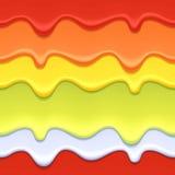 Fond abstrait d'égouttements colorés Photographie stock