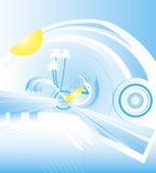 Fond abstrait d'été Image libre de droits