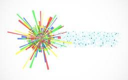 Fond abstrait d'étoile Image stock
