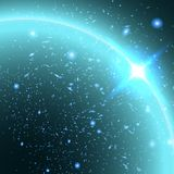 Fond abstrait d'étoile et de ciel Image stock