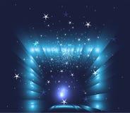 Fond abstrait d'étoiles bleues de Noël Image stock