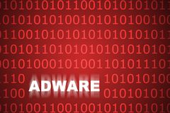 Fond abstrait d'Adware image stock