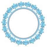 fond abstrait d'affaires de roue de cercle du puzzle 3d denteux Photo libre de droits