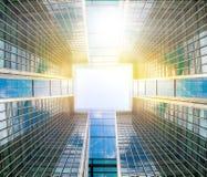 Fond abstrait d'affaires fait de détails des bâtiments d'entreprise Photographie stock libre de droits