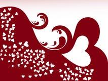 Fond abstrait d'amour illustration de vecteur