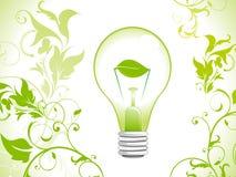 Fond abstrait d'ampoule de vert d'eco Images stock