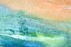 Fond abstrait d'aquarelle Photos libres de droits