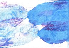 Fond abstrait d'aquarelle de blues-jean Images stock