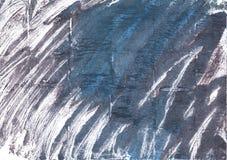 Fond abstrait d'aquarelle de charbon de bois Photos libres de droits