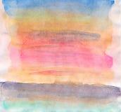 Fond abstrait d'aquarelle sur la texture de papier Images libres de droits