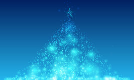 Fond abstrait d'arbre de Noël illustration de vecteur