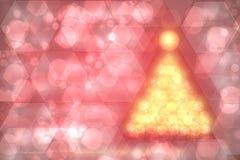 Fond abstrait d'arbre de Noël Noël d'or abstrait TR illustration stock