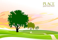 Fond abstrait d'arbres - stylisé illustration stock
