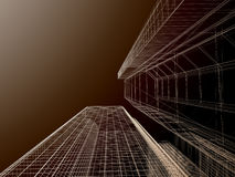 Fond abstrait d'architecture. Photographie stock libre de droits
