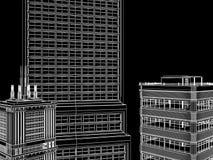Fond abstrait d'architecture. Image libre de droits