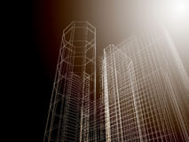 Fond abstrait d'architecture. Photos stock