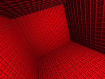 Fond abstrait d'architecture du rouge 3d Photo stock