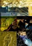 Fond abstrait d'argent Photo stock