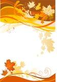 Fond abstrait d'automne Images libres de droits