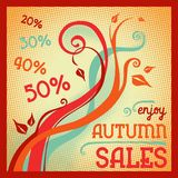 Fond abstrait d'automne Autumn Sales Banner illustration stock