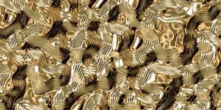 Fond abstrait d'or avec les lignes douces illustration de vecteur