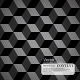 Fond abstrait, 3d cubes, texture noire illustration libre de droits