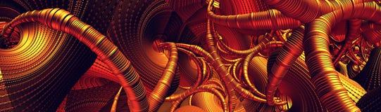 Fond abstrait, 3D fantastique illustration stock
