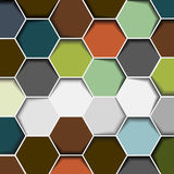 Fond abstrait d'hexagone Photos stock