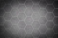 Fond abstrait d'hexagone de fer de mur de briques Photographie stock