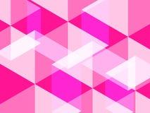 Fond abstrait d'hexagone et de polygone dans la couleur en plastique de rose ou de roses indien photographie stock