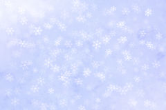 Fond abstrait d'hiver avec la chute de flocons de neige photographie stock
