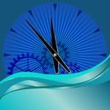 Fond abstrait d'horloge Image libre de droits