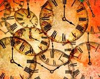 Fond abstrait d'horloge de cru illustration de vecteur