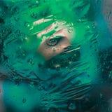 Fond abstrait d'huile mélangé avec de l'eau Image libre de droits