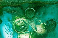 Fond abstrait d'huile mélangé avec de l'eau Photo stock