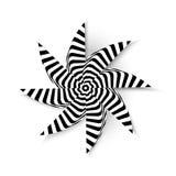 Fond abstrait d'illustration de vecteur d'étoile psychopathe Photographie stock libre de droits
