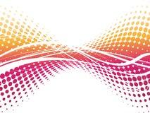 Fond abstrait d'image tramée d'onde Photographie stock libre de droits