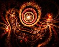 Fond abstrait d'imagination avec des formes de coeur Image libre de droits