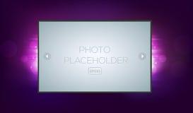 Fond abstrait d'imagination avec le cadre de photo Photo stock