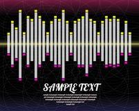 Fond abstrait d'onde sonore Images libres de droits