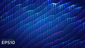 Fond abstrait d'ondulation de données Les données ondulent le concept futuriste de l'information Analyse de diagramme illustration libre de droits